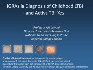 IGRAs in Diagnosis of Childhood LTBI and Active TB