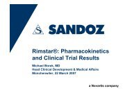 Rimstar®: Pharmacokinetics and Clinical Trial Results