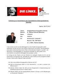 Einladung zur Veranstaltung der Sozialistischen ... - DIE LINKE. Berlin