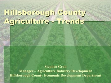 Hillsborough County Agriculture -- Trends - Tampa Bay Regional ...