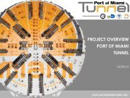 Port of Miami Tunnel Project - Council Member Wengay Newton ...
