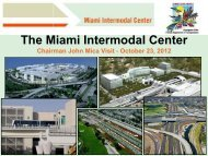 The Miami Intermodal Center - Tampa Bay Regional Planning Council