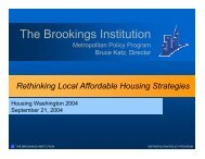 Rethinking Local Affordable Housing Strategies - Brookings Institution