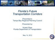Florida's Future Transportation Corridors - Tampa Bay Regional ...