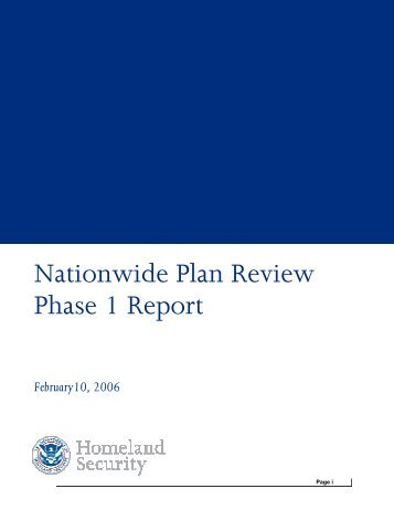 Nationwide Plan Review Phase 1 Report - Emergency Management ...