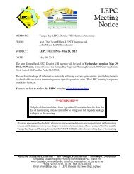 Next LEPC Meeting: Wednesday, August 28, 2013 - Tampa Bay ...
