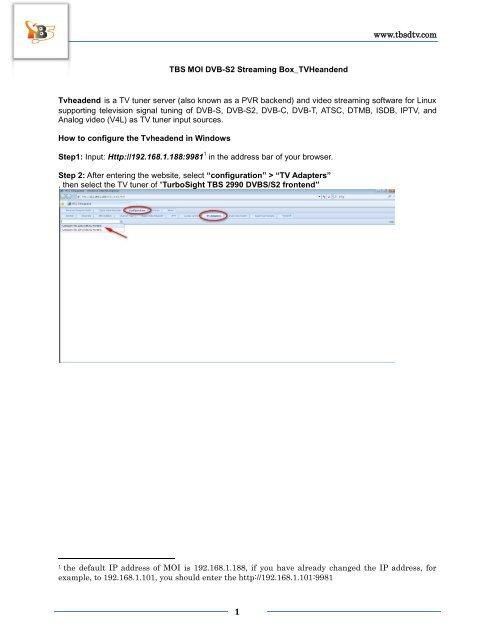 TBS MOI DVB-S2 Streaming Box_TVHeandend_V1 0 pdf