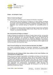 Biogas - Technische Betriebe Weinfelden