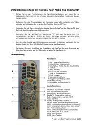 Installationsanleitung Set-Top-Box Kaon K 200 - Technische ...