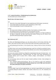 Bank - Technische Betriebe Weinfelden