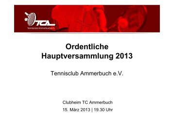 TOP 4 - Tennisclub Ammerbuch e.V.