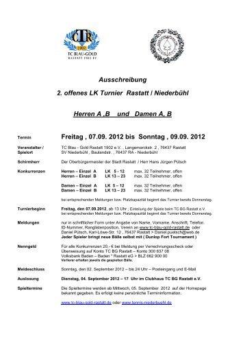 Ausschreibung 2. offenes LK Turnier Rastatt / Niederbühl Herren A ...