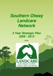 Southern Otway Landcare Network 5 Year Strategic Plan 2009
