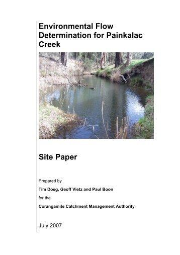 Environmental Flow Determination for Painkalac Creek: Site Paper