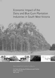 Economic Impact of the Dairy and Blue Gum Plantation Industries in ...