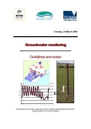 Groundwater Monitoring: Guidelines and Review - Corangamite ...