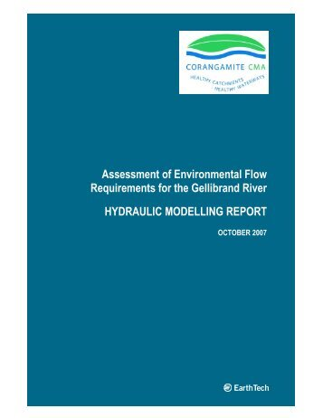Assessment of Environmental Flow Requirements for the Gellibrand ...
