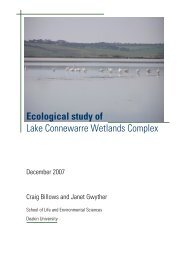Ecological study of Lake Connewarre Wetlands Complex