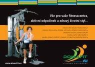 Vše pro vaše fitnesscentra, aktivní odpočinek a ... - Domafit Fitness