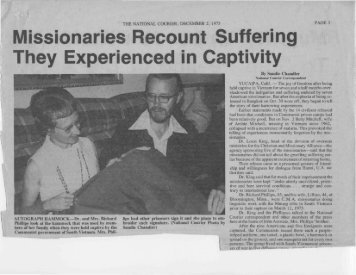 Missionaries Recount Suffering They Experienced ... - IndoChina1911