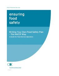 Ensuring Food Safety - BC Centre for Disease Control