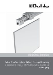 Montagehinweis / Mounting Instructions - Bohle AG