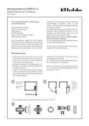 Montageanleitung Clix Glastürscharnier zur UV-Klebung