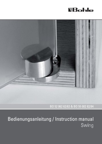 Bedienungsanleitung / Instruction manual - Bohle AG