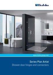 Series Plan Artist Shower door hinges and connectors - Bohle AG