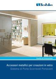 Accessori metallici per creazioni in vetro Sistema di Porte Scorrevoli ...