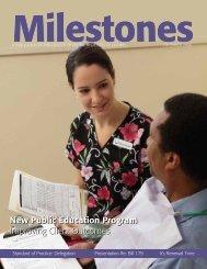 Milestones - College Of Dental Hygienists of Ontario