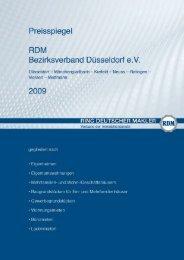 Der Preisspiegel des RDM