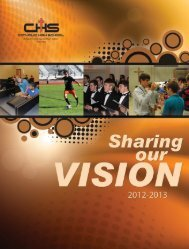 Sharing Our Vision - Catholic High School