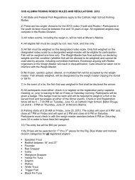 chs alumni fishing rodeo rules and regulations: 2011 - Catholic High ...