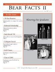 BEAR FACTS II - Catholic High School
