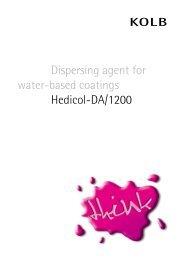 Dispersing agent for water-based coatings Hedicol-DA/1200