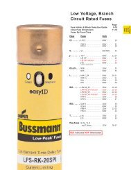 Low Voltage, Branch Circuit Rated Fuses
