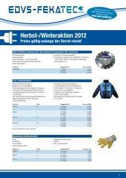 Herbst-/Winteraktion 2012 - EDVS Gmbh