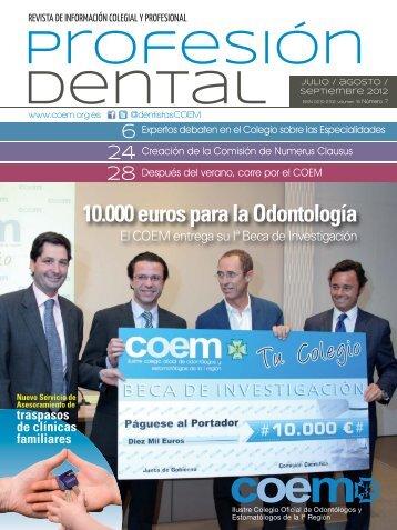 Profesión Dental julio-agosto-septiembre 2012 - COEM