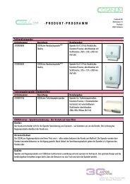 cosaLine Produkt-Programm - Cosanum
