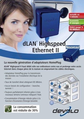 dLAN® Highspeed Ethernet II - wlanshop.fr