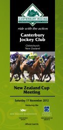 Saturday 1 November 2012 7 - New Zealand Thoroughbred Racing
