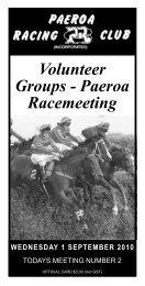 Paeroa Racemeeting - New Zealand Thoroughbred Racing