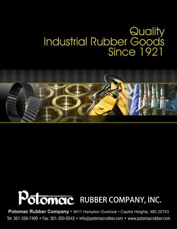 Sheet Rubber, Packing, Gaskets & Gasket Material - Potomac ...