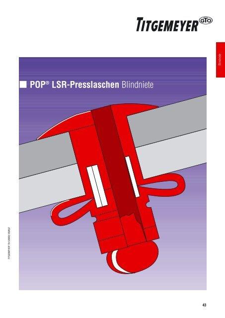 POP® LSR-Presslaschen Blindniete