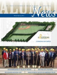 expanding our campus groundbreaking at fields - St. Pius X Catholic ...
