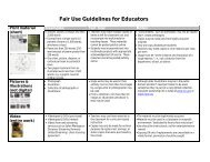 Fair Use Guidelines for Educators