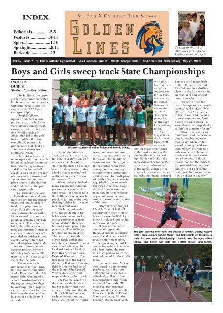 Boys and Girls sweep track State Championships - St. Pius X ... d7a2e026e69fe