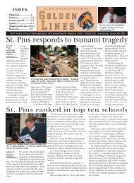 St. Pius responds to tsunami tragedy - St. Pius X Catholic High School