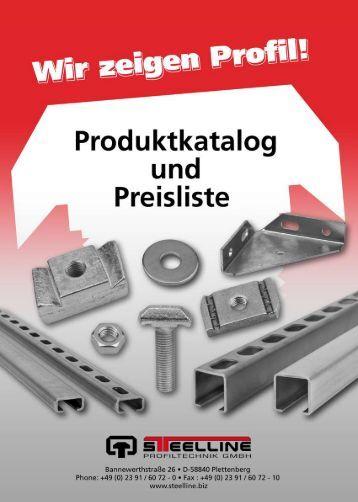 Technische Daten - Steelline Profiltechnik GmbH